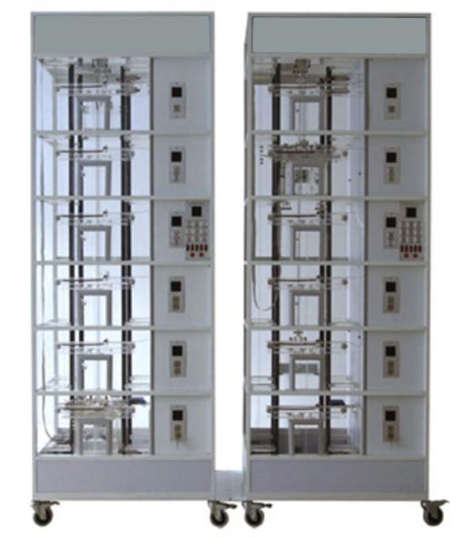 电梯井道部分:  导轨,对重机构,轿厢(门机机构,安全钳,导靴,照明灯